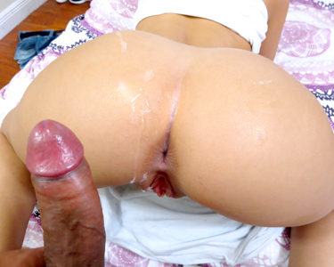 Donna loves to have her ass and cunt smeared with sperm
